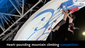 Heart-pounding mountain climbing competition [video]