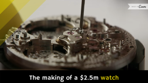 The making of a $2.5m watch [video]