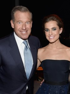 Brian Williams weighs in on Allison Williams' racy sex scene
